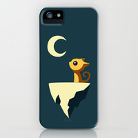 Moon Cat iPhone Case by Freeminds