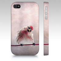 iPhone Case, iPhone 4/4S, iPhone 5, Samsung Galaxy S3, Little Song Bird, Nature Photography, Red Pink, Whimsical, Kid's Art