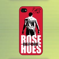 Derrick Rose NBA Basketball Rose Before Hoes Case For iPhone 4/4S iPhone 5 Samsung Galaxy S2 Samsung Galaxy S3