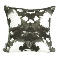 Supermarket: Ink Blot Pillow Cover, in Jet (Additional Colours Available) from Mod Pieces