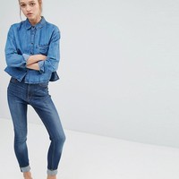 Monki Highwaisted Straight Jean at asos.com