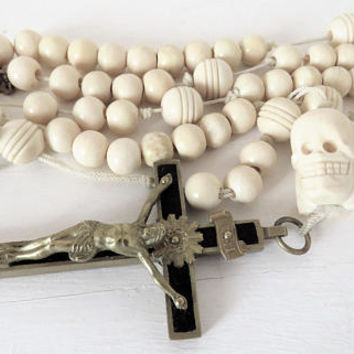 Antique French, Momento Mori, Religious Order, Rosary,