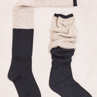 Two-Tone Knee High Socks