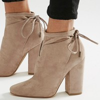 Kendall & Kylie Corset Tie Back Ankle Boot