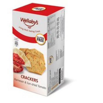 Wellaby`s Parmesan and Sun-Dried Tomato Crackers -6x3.9 Oz-