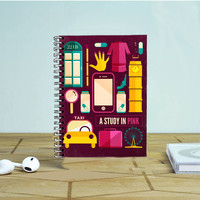 Sherlock Study In Pink Photo Notebook Auroid