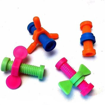 8 Pcs Nuts And Bolts Pencil Toppers