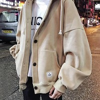 Basic Button Up Hoodie