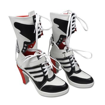 2016 NEW Suicide Squad clown harley quinn boots cosplay custom anime accessory props w
