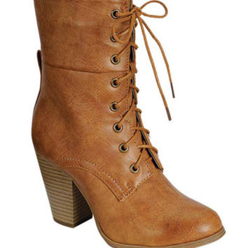The Sierra Lace Up Booties