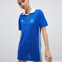 adidas Originals Fashion League Dress In Blue at asos.com