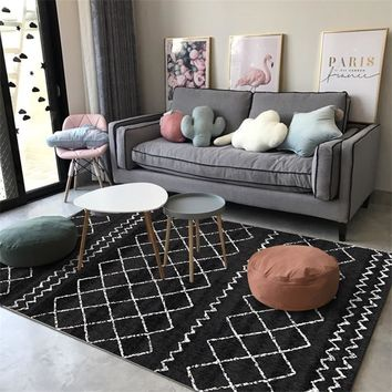 Autumn Fall welcome door mat doormat Fashion Casual Scandinavian Geometric Black White Grey  Bathroom Parlor Living Room Bedroom Decorative Carpet Area Rug AT_76_7