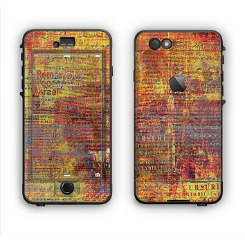 The Bright Orange Torn Posters Apple iPhone 6 LifeProof Nuud Case Skin Set