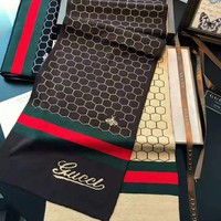 GUCCI 2018 winter new high-end men and women shawl scarf