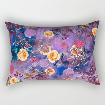 flowers purple Rectangular Pillow by jbjart