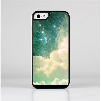 The Cloudy Grunge Green Universe Skin-Sert for the Apple iPhone 5-5s Skin-Sert Case