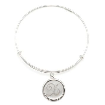 Alex and Ani Precious Initial X Charm Bangle - Argentium Silver