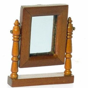 1:12 Scale Lincoln Dresser Mirror, Walnut #T6695