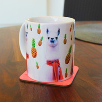 Pineapple Llamas Mug Cup MM56E