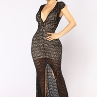 Get With You Maxi Dress - Black