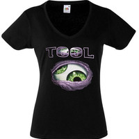 Tool Band Shirt Alternative Metal Tool Shirt Tool T Shirt Tank Top Progressive Heavy Metal Art Rock Women Lady V Neck Black T Shirt