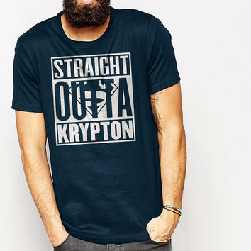 Men T-Shirt, Straight Outta Krypton T-Shirt, T-Shirt Size S-XXL