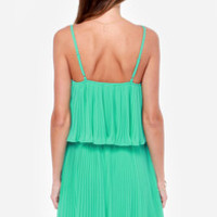 LULUS Exclusive As You Swish Pleated Mint Green Dress