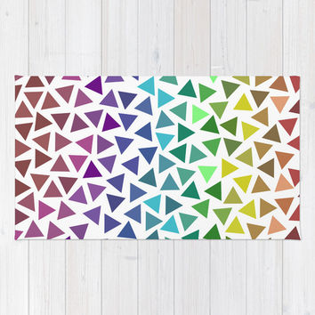 Rainbow Triangles Rug by KJ53321