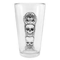"""""""No Evil"""" Pint Glass by Inked"""