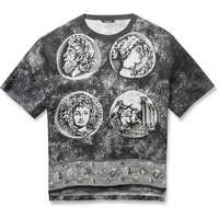 Dolce & Gabbana - Oversized Printed Cotton and Linen-Blend T-Shirt | MR PORTER