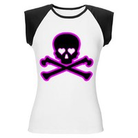 Skull and Bones with Hearts - Girl Tease T-Shirt> Hearts> Girl Tease