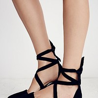 Jeffery Campbell + Free People Womens Hyde Wrap Flat