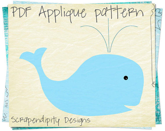 Whale Applique Pattern Animal Applique From