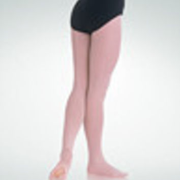 Body Wrappers TotalSTRETCH® Mesh Back Seam Convertible Tights - Children