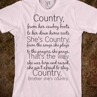 Shes country