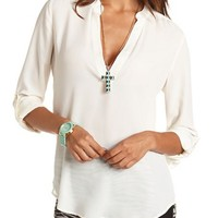 Chiffon Hi-Low Pullover Tunic: Charlotte Russe