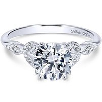"Gabriel ""Celia"" Victorian Style Diamond Engagement Ring"