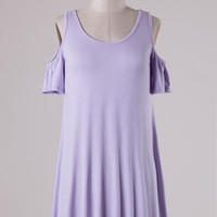 Santa Barbara Off the Shoulder Dress-  Lilac