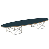 Wire Wood Coffee Table, Black