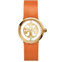 Tory Burch Orange Leather/gold-tone, 28 Mm