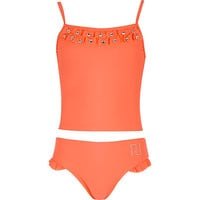 River Island Girls coral bow tankini