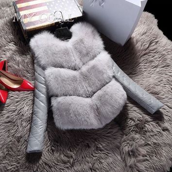 Vest Winter Coat Faux Fox Fur Vest High-Grade