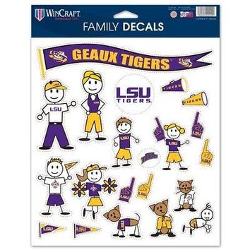 """Licensed LSU Tigers Official NCAA 8.5""""x11"""" Large Family Car Decal Sheet Wincraft 376497 KO_19_1"""