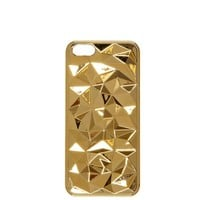 Gold tone faceted iPhone 5 case - gadgets - gifts / cosmetics - women