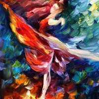 DANCE OF PASSION — Palette knife Oil Painting on Canvas by Leonid Afremov - Size 16x20. 10% discount coupon - deviantart10off