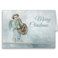 Vintage Little Blue Angel Boy Christmas from Zazzle.com