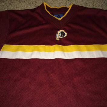 CREYON Sale!! Vintage Adidas WASHINGTON REDSKINS Football Jersey NFL Shirt Made in Usa