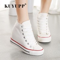 Superstar High Top Canvas Wedge Sneaker