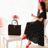 """Women Dresses Summer New Vintage Cotton Sweet Polka Dots Sexy Short Sleeve Dress Fashion Cute Temperament Elegant Charm Party Casual Dresse"