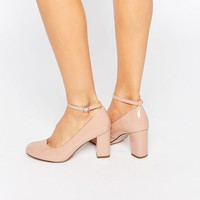 New Look Wide Fit Patent Mary Jane Heeled Shoe